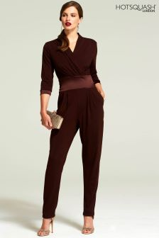 b35639e79c0 HotSquash Chocolate Long Sleeved Jumpsuit