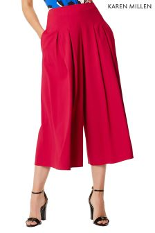 Karen Millen Pink Coloured Fluid Culotte