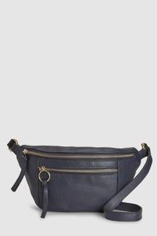 Кожаная сумка-кошелек на пояс