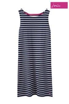 Joules Riva Ärmelloses Jersey-Kleid, blau