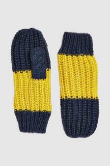 Knitted Stripe Mittens