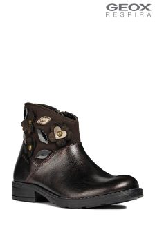 Geox Sofia Dark Coffee Ankle Boot