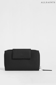 All Saints Black Captain Wallet