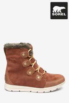 Sorel® Burgundy Explorer Joan Snow Boots