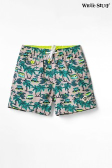 White Stuff Pink Kids Caravan Travels Swim Shorts