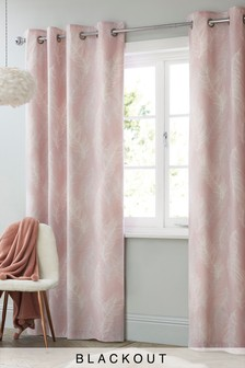 Feathers Blackout Eyelet Curtains