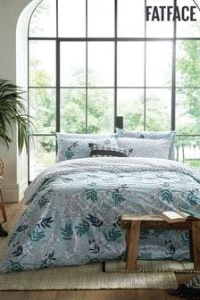 FatFace Oriental Crane Cotton Duvet Cover and Pillowcase Set