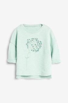 Flower Embroidered Crew (3mths-7yrs)