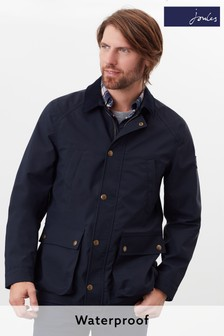 Joules Blue Arbury Waterproof Field Coat