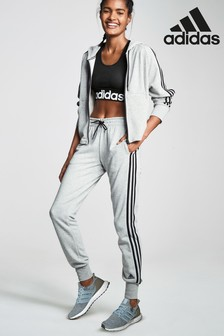 adidas Grey 3 Stripe Jogger