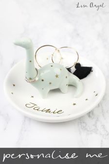 Personalised Dinosaur Trinket Dish by Lisa Angel