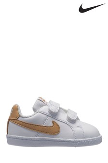 Nike White/Gold Court Royale Infant