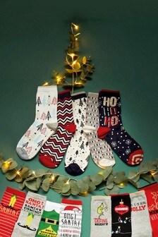 Christmas Theme Socks Five Pack