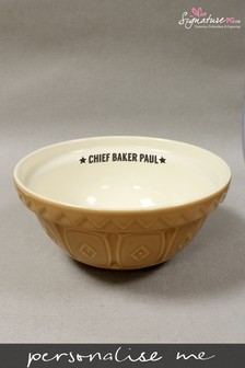Personalised Chief Baker Mixing Bowl by Signature PG