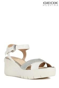 Białe sandały Geox D Torrence