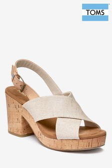 Toms Natural Woven Crossover Sandal
