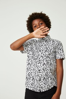 Short Sleeve Animal Print Shirt (3-16yrs)