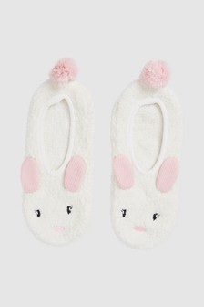 Тапочки-носки в виде кроликов