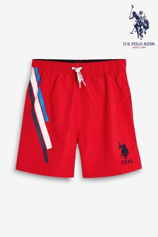 U.S. Polo Assn. Side Stripe Swim Short