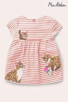 Boden Cream Big Appliqué Jersey Dress