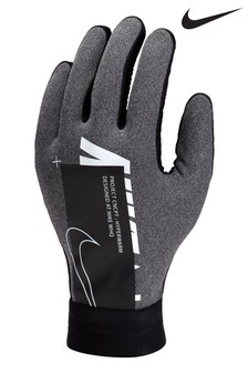 Nike Academy Kids Grey HyperWarm Football Gloves