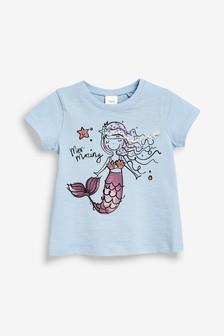 Embellished Mermaid T-Shirt (3mths-7yrs)