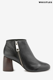 Whistles Black Pippa Zip Boots