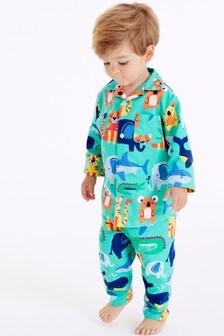 Animal Traditional Button Through Pyjamas (9mths-8yrs)