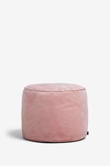 Metallic Geometric Pouffe
