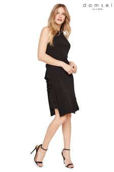 Damsel In A Dress Black Narissa Ruffle Jersey Dress