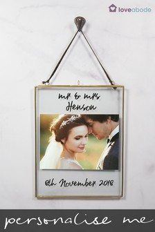 Personalised Wedding Day Hanging Photo Frame by Loveabode