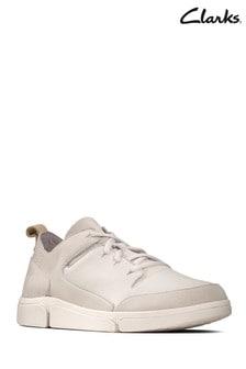 Clarks White Tri Verve Lace Shoe