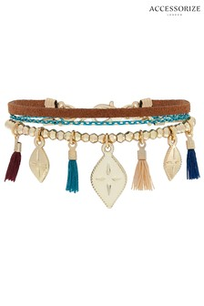 Accessorize Bronze Nomad Friendship Bracelet