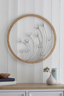 Wire Flower Wall Plaque