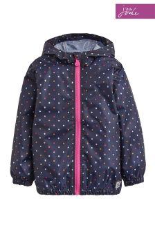 Joules Navy Dot Skye Waterproof Jacket