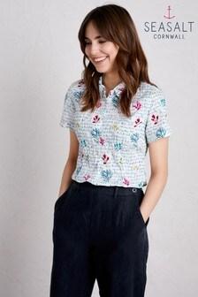 Seasalt Blue Mrs Treloar Shirt