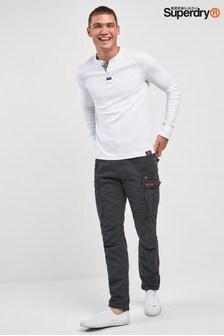 Черные выбеленные брюки карго Superdry