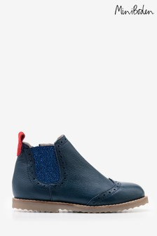 Boden Blue Leather Chelsea Boot