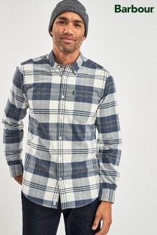 Barbour®藍色高地方格圖案襯衫