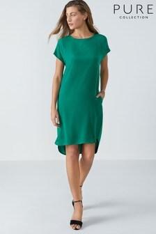 שמלה עם הדפס בחזית ממשי של Pure Collection