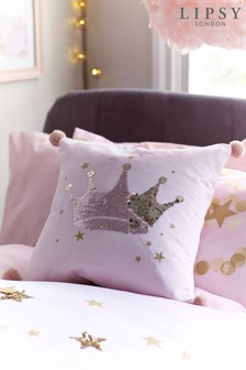 Lipsy Sequin Crown Cushion