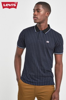 Levi's® Navy Chalk Stripe Sports Polo