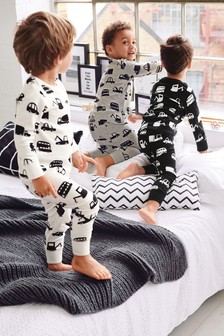 3 Pack Transport Snuggle Fit Pyjamas (9mths-8yrs)