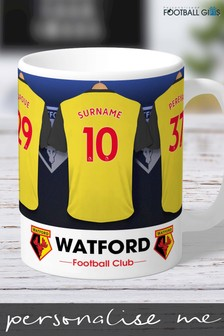 Personalised Watford Dressing Room Mug by Personalised Football Gifts