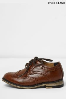 River Island Tan Brogue Shoe