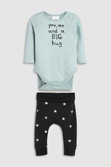 Slogan Bodysuit And Star Leggings Set (0mths-2yrs)