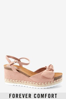 Footbed Bow Detail Wedges