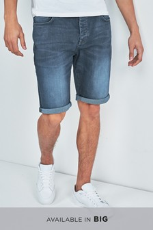Chalk Wash Denim Shorts