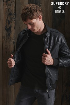 Superdry Aviator Leather Jacket