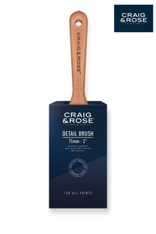 Craig & Rose Wood 75mm Detail Paint Brush